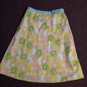 Lilly Pulitzer Lime Fruit Flower Skirt 4